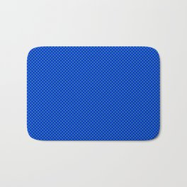 Blue and sea green squares Bath Mat