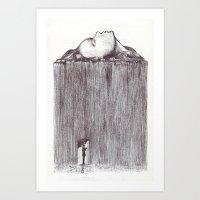 rain Art Prints featuring rain by Gerard Russo