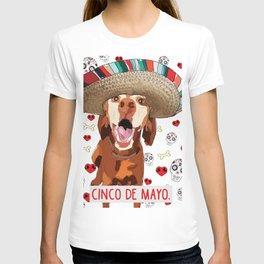Cinco de Vizsla T-shirt