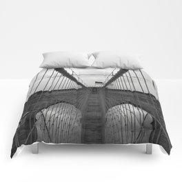 Brooklyn Bridge Cables Comforters