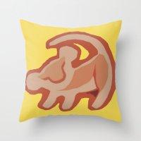 simba Throw Pillows featuring Simba / Lion King by tshirtsz