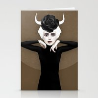 khaleesi Stationery Cards featuring Sever by Ruben Ireland