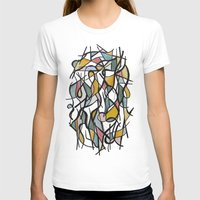 kandinsky T-shirts featuring Geometric Abstract Watercolor Ink by Ashley Grebe