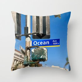 Ocean Avenue Throw Pillow