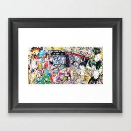 Neighborhood Series of Drawings Framed Art Print