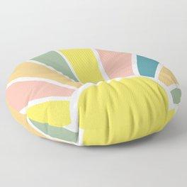 Retro Sun Ray Burst Floor Pillow