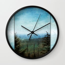 View from Clingman's Dome Tennessee Smoky Mountains Wall Clock