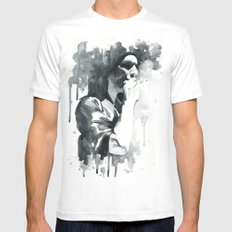brian molko (smoking) Mens Fitted Tee White SMALL