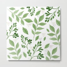 Plants with triangles Metal Print