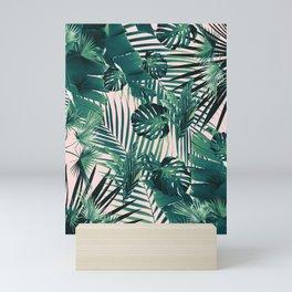 Tropical Jungle Leaves Siesta #2 #tropical #decor #art #society6 Mini Art Print