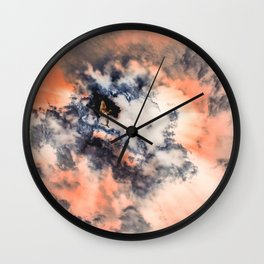 This Mermaid Has Her Head in The Clouds Wall Clock