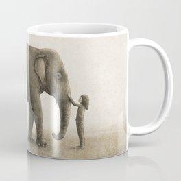 One Amazing Elephant - sepia option Coffee Mug