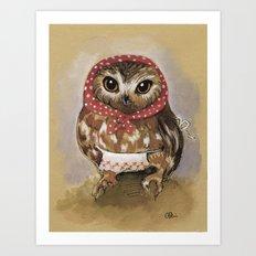 Babooshka Owl Mama Art Print