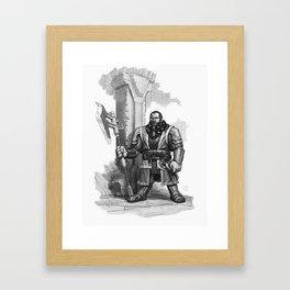And My Axe Framed Art Print