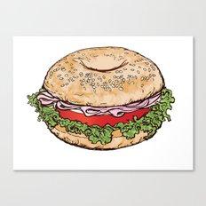 Bagel Sandwich Canvas Print