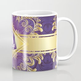 Decorative Background with Amethyst Coffee Mug
