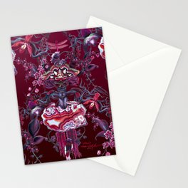 Merlot pattern on burgundy Stationery Cards