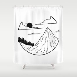 Paysage rond 1 Shower Curtain