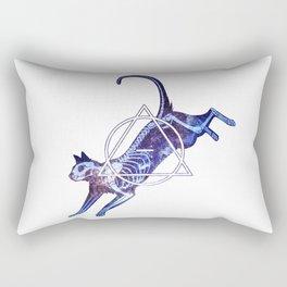 Astral Skeleton Cat Rectangular Pillow