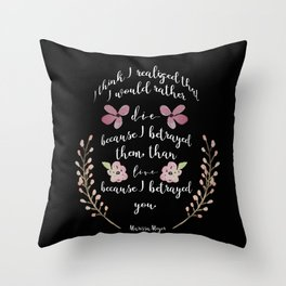 Betrayed, The Lunar Chronicles  Throw Pillow