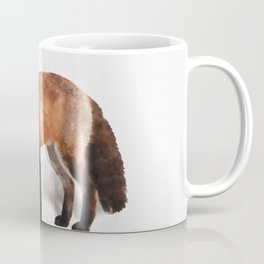 Watercolour red fox wildlife painting illustration Coffee Mug