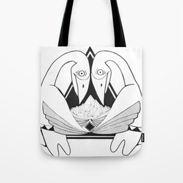 Bowing Birds Tote Bag