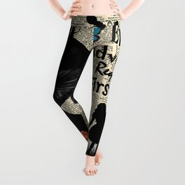 Every Adventure Requires a First Step - Alice In Wonderland Leggings