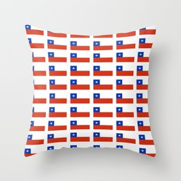 Flag of Chile 3-Spanish,Chile,chilean,chileno,chilena,Santiago,Valparaiso,Andes,Neruda. Throw Pillow