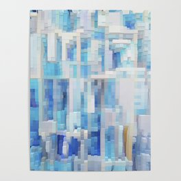 Abstract blue pattern 2 Poster