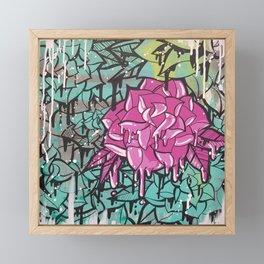 Drip Drop Graffiti Framed Mini Art Print