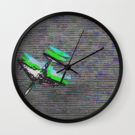shifted 3d plane Wall Clock