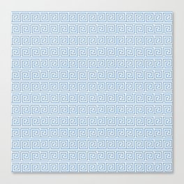 Light Blue Greek Key Pattern Canvas Print