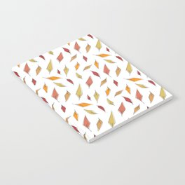 Autumn Leaves Pattern Notebook