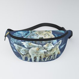 Wild Wolf Wolves Pack Leader Fanny Pack