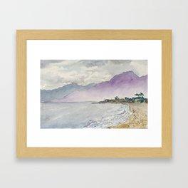 West Coast Beach Carpinteria Framed Art Print