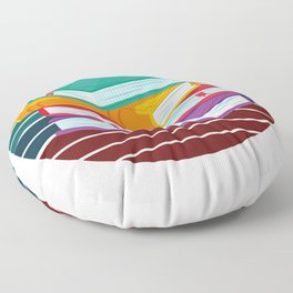 Books With A Colorful Background Floor Pillow
