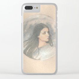 She Hung the Moon Clear iPhone Case