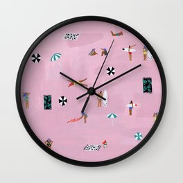 Lay down Wall Clock