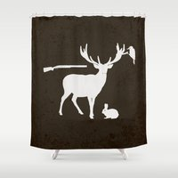 hunter Shower Curtains featuring Hunter by Julia Brnv