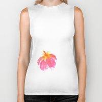 hibiscus Biker Tanks featuring Hibiscus by Grace Breyley