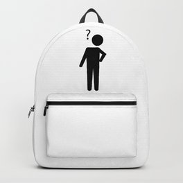 Confused Stickman Backpack