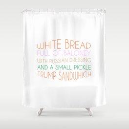 Trump Sandwhich Shower Curtain