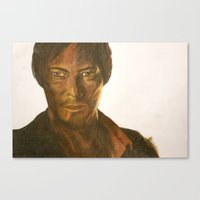 daryl Canvas Prints featuring Daryl by Kristy Holding