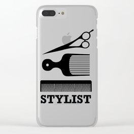 Hair Stylist Clear iPhone Case