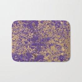 Purple and Gold Patina Design Bath Mat