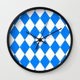 Diamonds (Azure/White) Wall Clock