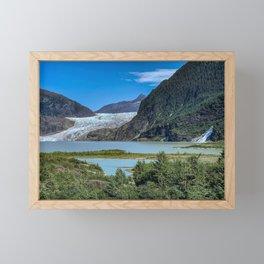 Glacier Meets Water Framed Mini Art Print