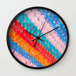 Chinese Lantern Bright Colours Repeat Pattern  Wall Clock