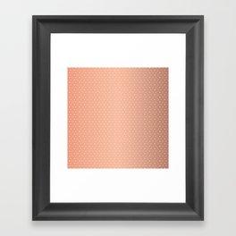 Art Deco, Simple Shapes Pattern 1 [ROSE GOLD] Framed Art Print
