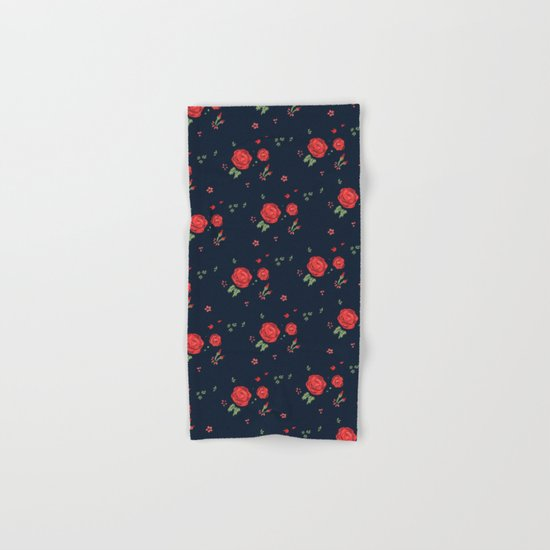 Classic western rose pattern  Hand & Bath Towel
